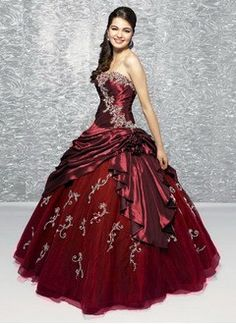 Ball-Gown Strapless Sweetheart Floor-Length Taffeta Organza Quinceanera Dress With Ruffle Beading Appliques Lace Flower(s) Sequins