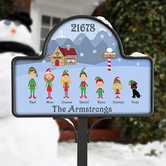 Christmas Character Yard Stake with Magnet #yardsign