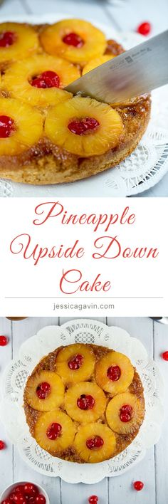 Classic Recipe for Pineapple Upside-Down Cake | jessicagavin.com #sweets