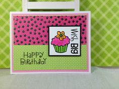 2 Paw Prints: Wish Big birthday card
