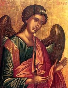 The Archangel Michael, a Post-Byzantine Cretan Icon dating to the century - A icon from the Monastery of St. Catherine in the Sinai of Egypt Michael Angel, Archangel Michael, Byzantine Icons, Byzantine Art, Religious Icons, Religious Art, Medieval Art, Renaissance Art, Gabriel