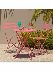 Garden Furniture 3 Piece buy kara 2 seater garden bistro set - black at argos.co.uk - your