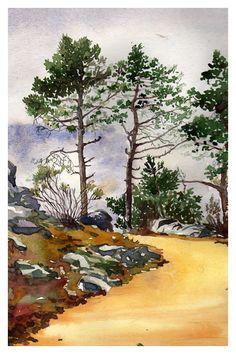 """Watercolor """"Tree"""" by guni03.deviantart.com on @deviantART"""