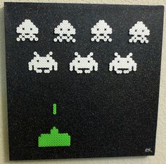 funkymonkey has made scenes using perler pieces mounted on canvas. Here are just a few of them: It's such a great way to mount perler projects! via[TheSpriteStitchForum]
