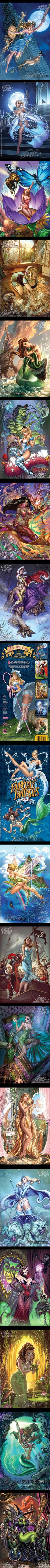 """""""Fairy Tale Fantasies"""" is the new 2012 sexy calendar of the Disney Princesses Pin-Ups by the great illustrator J. Scott Campbell. Beautiful of course:"""