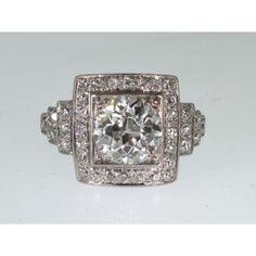 1.38 Carat Round Old Mine Cut Diamond Ring