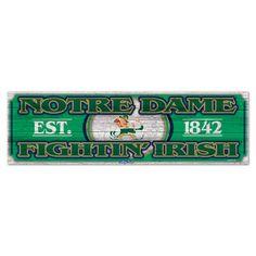 Notre Dame Fighting Irish 9x30 Wood Sign