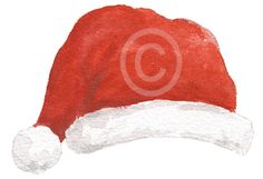 Christmas Messages, Christmas Images, Online Message, Santa Hat, Little Gifts, Gift Tags, Watercolour, Social Media, Stickers