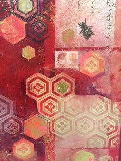 Detail - bee Collage 4. Mixed media on Canvas, Nerina Lascelles