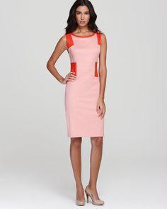 Rachel Roy Leather Mix Dress | Bloomingdale's