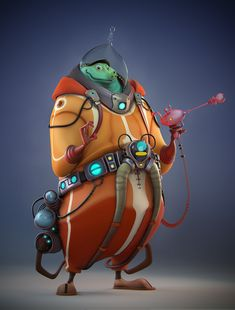 Cartoon - TTerb Naeb by Fabricio Campos Character Modeling, Character Creation, Game Character, Character Concept, Concept Art, Alien Concept, 3d Modeling, Character Design Cartoon, Cartoon Design