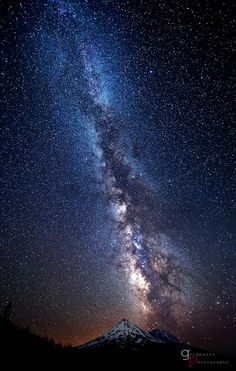 Ancient Lineage - Milky Way above Mount Shasta, Shasta-Trinity National Forest, CA | GoldPaint Photography