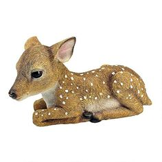 Design Toscano Darby the Forest Fawn Baby Deer Statue >>> More info could be found at the image url. (This is an affiliate link and I receive a commission for the sales) Garden Animal Statues, Deer Statues, Garden Animals, Garden Statues, Forest Animals, Garden Sculptures, Outdoor Statues, Rabbit Sculpture, Wild Deer