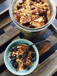 Granola, Acai Bowl, Oatmeal, Homemade, Breakfast, Food, Healthy Recipes, Cooking, Acai Berry Bowl