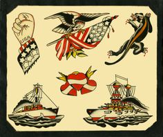 Awesome Traditional Tattoo Flash