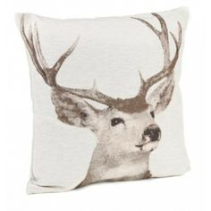 New Jaquard Stag Cushion | Alan Ward #homecomforts #cushion #stag