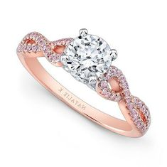 Rose Gold Engagement Rings With Pink Diamonds