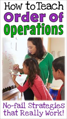 Corkboard Connections: Teaching Order of Operations: No-fail Strategies that Really Work! Math 5, Math Tutor, Guided Math, Fun Math, Math Games, Teaching Math, Math Activities, Piano Teaching, Interactive Activities