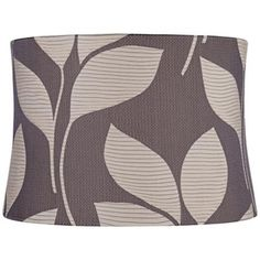 Gray With Sand Leaves Drum Lamp Shade 15x16x11 (Spider) - #2Y584   LampsPlus.com
