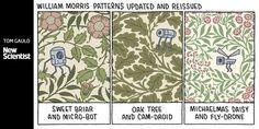 Twitter Michaelmas Daisy, William Morris Patterns, New Scientist, Twitter