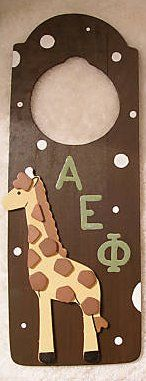 sorority doorhanger