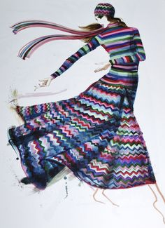 70's Missoni illustration from the book Shopping for Vintage by Funmi Odulate