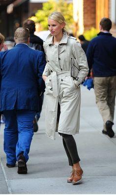 @roressclothes clothing ideas #women fashion gray tench coat Karolína Kurková