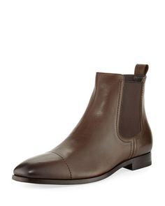 N4T3N Ermenegildo Zegna Rodrigo Leather Chelsea Boot, Brown