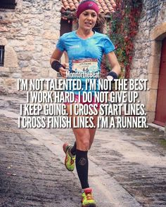 Happy Sunday Runday. To all those who may never finish first, get their name in the paper, or set a race record... Keep working your butt…
