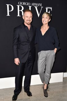Robin Wright Ben Foster | Ben Foster, Robin Wright from Stars at Paris Couture Fashion Week ...