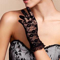 encaje de la muñeca guantes de novia de longitud (más colores) – USD $ 2.99