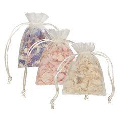 Petals in organza bags