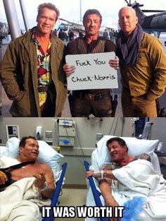 Tagged with chuck norris, arnold schwarzenegger, bruce willis, bruce campbell, sylvester stallone; Shared by How to get rid of Bruce 9gag Funny, Stupid Funny, Funny Jokes, Hilarious, Crazy Funny, Funny Gifs, Chuck Norris Memes, Memes Humor, Man Humor