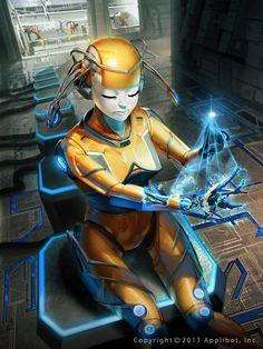 Galaxy Saga Metallo Femme by on DeviantArt Gang Road, Cyberpunk Art, Sci Fi Fantasy, Sci Fi Art, Metallica, Game Art, Saga, Science Fiction, Iron Man