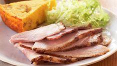 Baked Smithfield Ham with Bourbon, Honey, and Pecan Glaze - Recipe - FineCooking Smithfield Ham, One Skillet Meals, Pork Ham, Smoked Ham, Roasted Salmon, Toasted Pecans, Ham Recipes, Easy Weeknight Dinners, Pecans