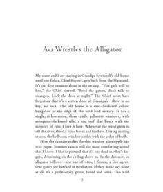 Ava Wrestles the Alligator by Karen Russell