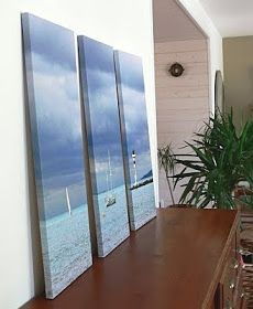 one photo made into three canvases