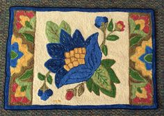 Hooked by Mary Miller, Little Crewel design by Patsy Becker