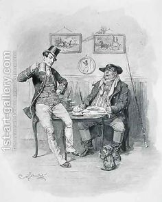 The Two Wellers, from 'The Pickwick Papers' by (after) Barnard, Frederick