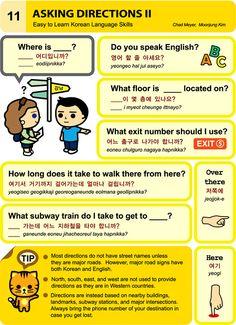 11 learn korean hangul Asking Directions 2