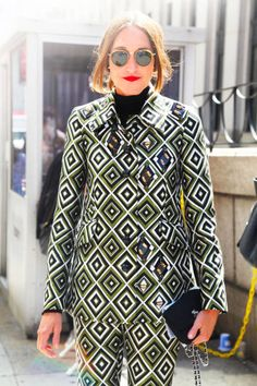 Annette Weber Occupation: Editor-in-Chief, InStyle Germany  suit: Prada
