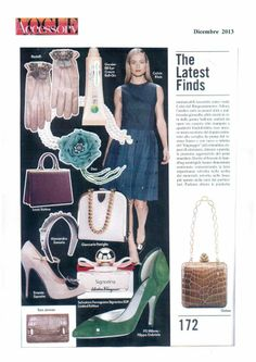"Our model ""Isa"" green on Vogue Accessory … page 172 !!!"