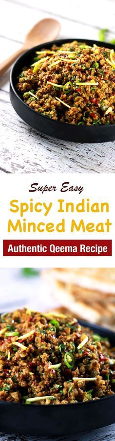 This CLASSIC authentic Indian minced meat Qeema recipe is so delicious, it'll become a regular at your house!! | http://ScrambledChefs.com