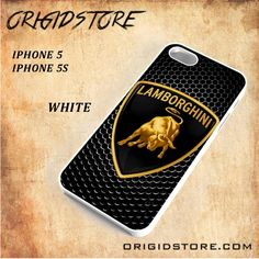Lamborghini Logo Metal Carbon For Iphone 5/5S Snap On and 3D Case