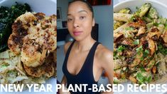 New Year PLANT-BASED RECIPES // Cauli Steaks + Creamy Mushroom Pasta
