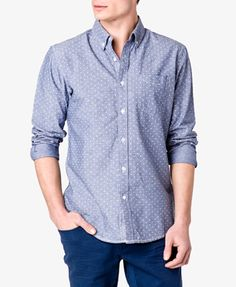 Fitted Polka Dot Button Down.