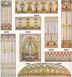 Stained glass designs, 1920's
