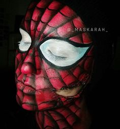 My Spidey senses are tingling... Another look at my torn spiderman! 🕷  Follow for more fun looks! Have a #maSCAREah October 🕸  #makeup #makeuptutorial #mua #facepaint #style #lips #halloween #halloweenmakeup #gore #sfx #sfxmakeupartist #makeupartist #makeupjunkie #eyeshadow #face #lips #mascara #eyeliner #october #face #cosmetic  #underratedmuas #undiscovered_muas #universalhairandmakeup #gigirlarmy #spiderman #fashion #specialeffectsmakeup