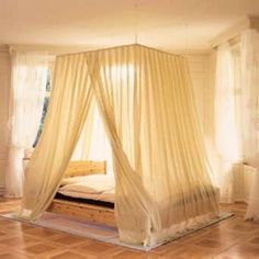 Best Of Hanging Curtains Around Bed