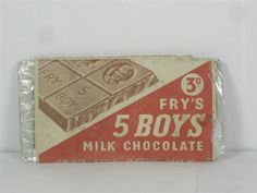 Frys-Five-Boxs-Chocolate-Dummy-Bar for sale Vintage Packaging, Packaging Design, Childhood Toys, Childhood Memories, Vintage Type, Vintage Food, Dolls House Shop, Cocoa Chocolate, Grocery Items